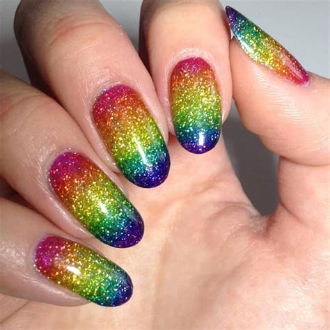 Rainbow Nail Designs 17 stunning rainbow nail designs 2017 sheideas