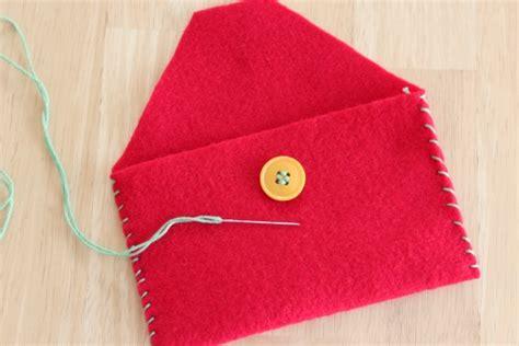 felt envelope pattern handmade felt envelope from make and takes
