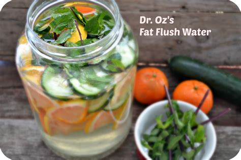 Tummy Detox Dr Oz by Dr Oz Flush Water