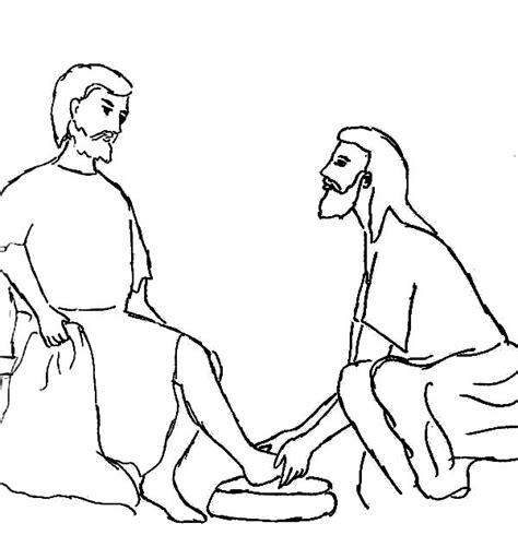 coloring pages of jesus helping others jesus serving others coloring page coloring pages