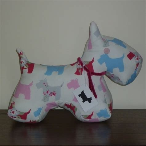 Patchwork Door Stop Pattern - scottie door stop moon