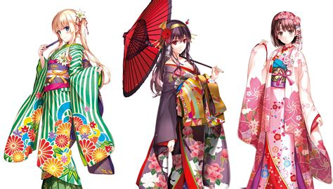 Fp Saenai Sawamura Eriri Kimono wallpaper illustration anime pattern saenai heroine no sodatekata sawamura eriri