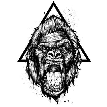 17 gorilla tattoo designs