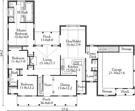 2400 square feet southern style house plan 3 beds 2 5 baths 2400 sq ft plan 406 172