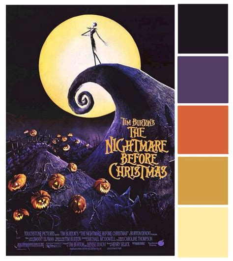 nightmare before colors poster palette nightmare before this
