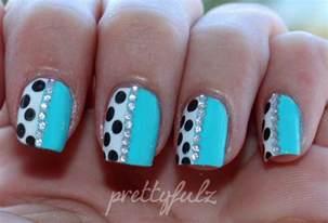 prettyfulz blue polka dot nail art amp love letter nails