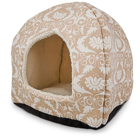 petco cat beds petco restful snuggler pyramid cat bed in brown petco