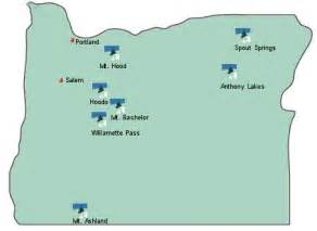 ski resorts oregon map oregon ski resorts snowboarding areas snow reports
