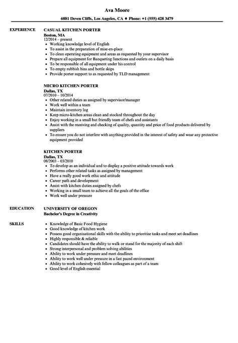 Porter Resume by Porter Description Resume Sanitizeuv Sle