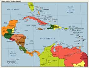 Caribbeans Map by America Caribbean Political Map 1 Caribbean Maps