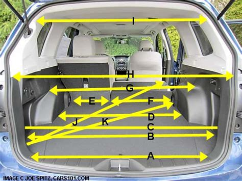 Subaru Forester Cargo Space Dimensions by 2014 Subaru Forester