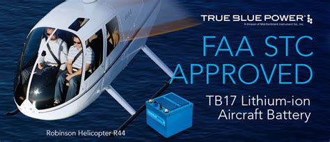 hawker energy products aircraft battery faa stc approved tb17 tb44 lithium ion aircraft