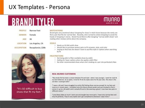 ux persona template mobile ux coe