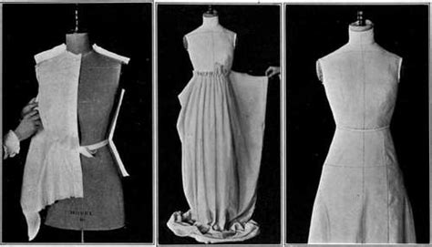 draped garments how to place the pattern on the material
