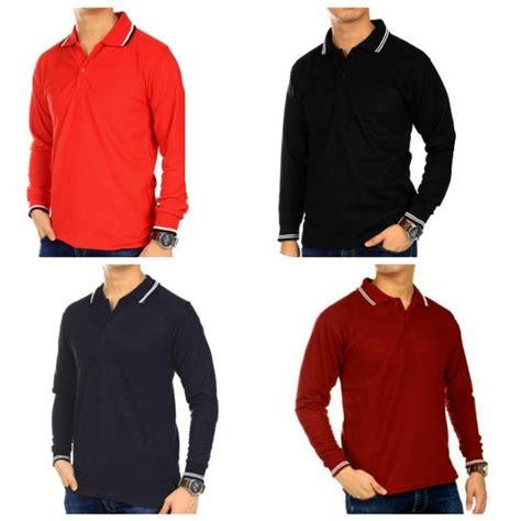 Kaos Krah Polo Shirt Tangan Panjang Fashion Wanita 5 jual grosir kaos polo lengan panjang polo shirt kaos