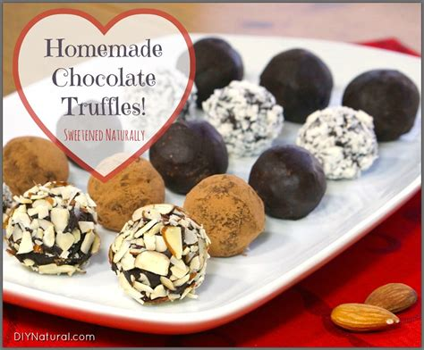 Handmade Chocolate Recipes - chocolate truffles sweetened naturally
