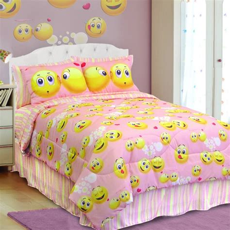 Bed Sheets At Walmart Veratex Emoji 4 Piece Comforter Set Free Shipping Today
