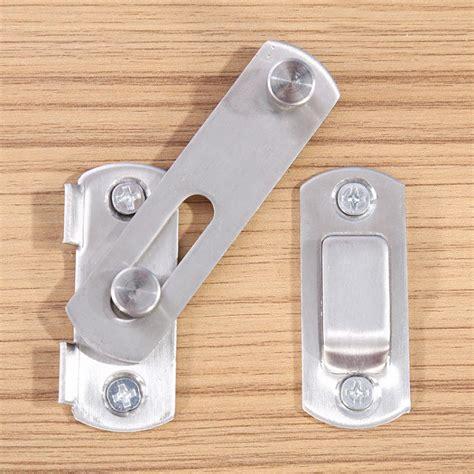 metal cabinet sliding door lock 304 stainless steel hasp latch lock sliding door simple