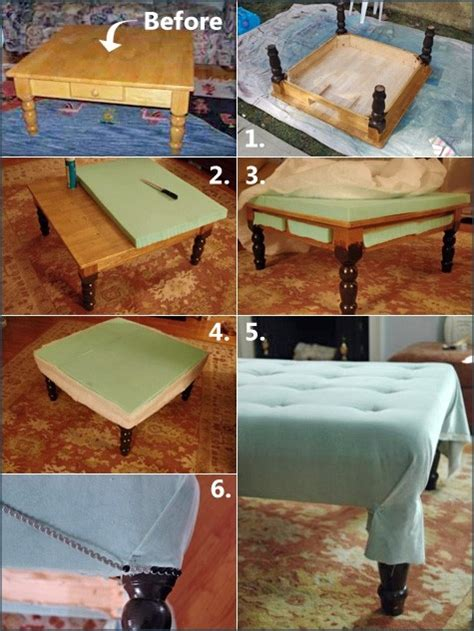 an ottoman out of a coffee table