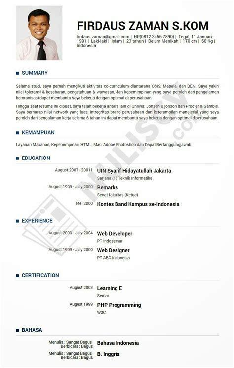 membuat resume contoh resume