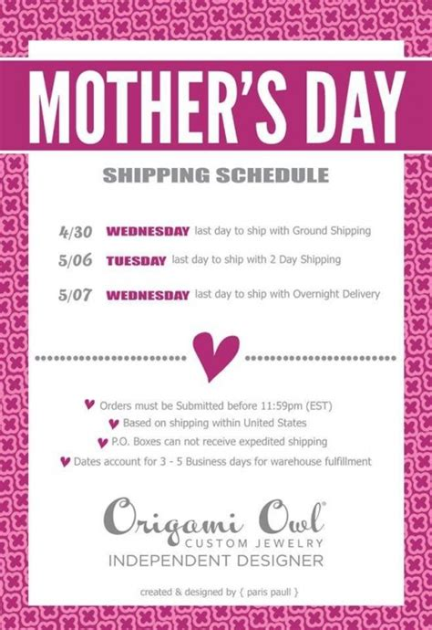 Origami Owl Shipping - celebrate with origami owl