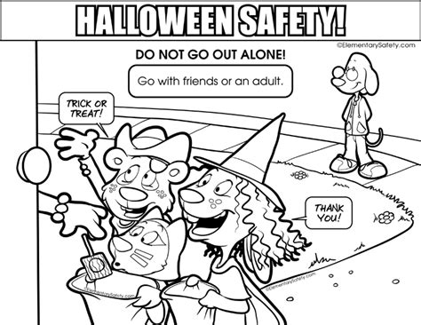 halloween safety pages coloring pages