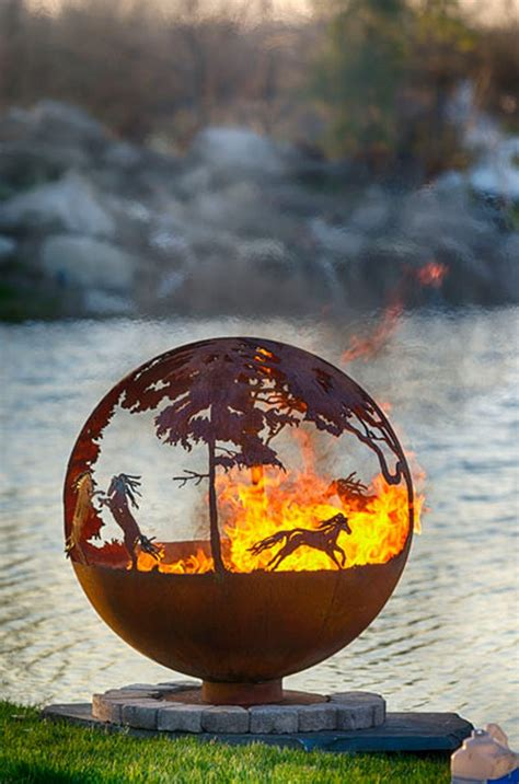artistic sphere fire pit  owner builder network