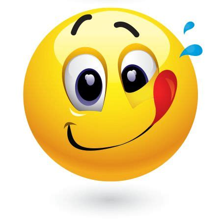 emoji yummy mmm mmm good smileys