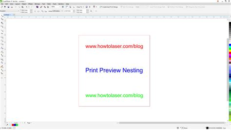 printable area coreldraw corel draw print preview nesting