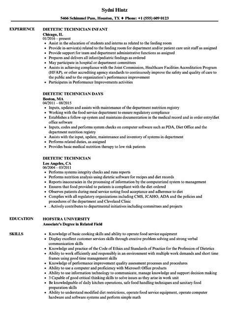 Dietetic Technician Sle Resume by Diet Technician Resume Front Office Receptionist Resume Problems With The Ladders Second Resume