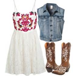 Cowgirl Outfit With Sleeveless Denim Jacket Polyvore