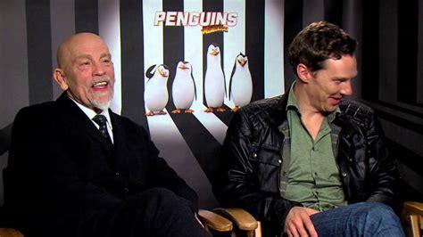 john malkovich youtube interview penguins of madagascar benedict cumberbatch john