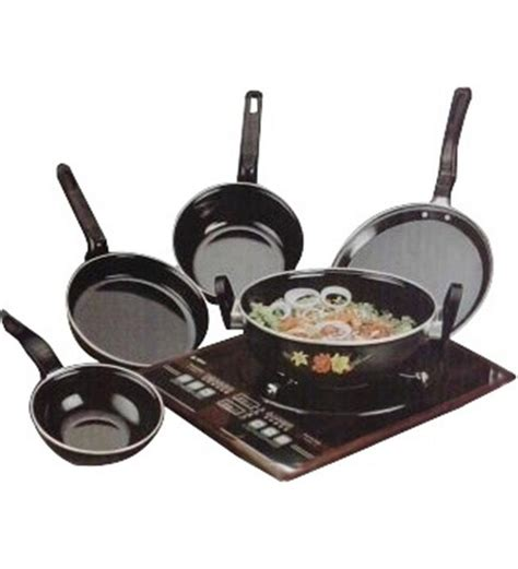 induction cooking set milton coated induction cookware set of 5 pcs at rs 467 lowest shopping