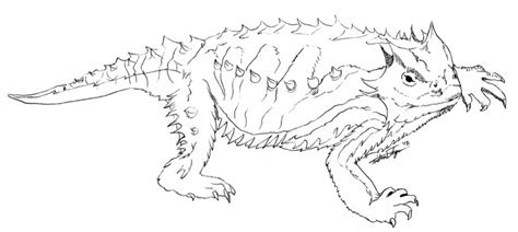 coloring page horned lizard horned lizard coloring page coloring home