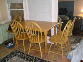 cherry wood kitchen table and chairs front desk for sale