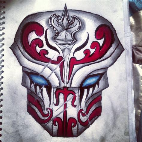 samurai mask drawing by naqieb on deviantart