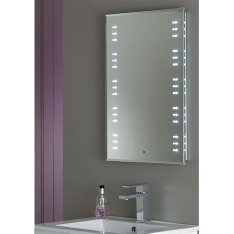 illuminated bathroom mirrors with demister endon lighting kastos led bathroom illuminated mirror with