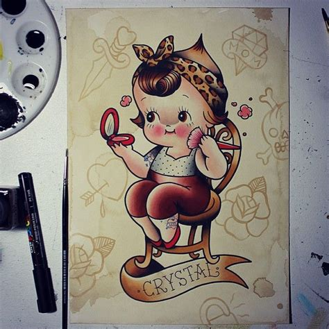 pin up doll tattoos 1497 best kewpie dolls images on kewpie doll