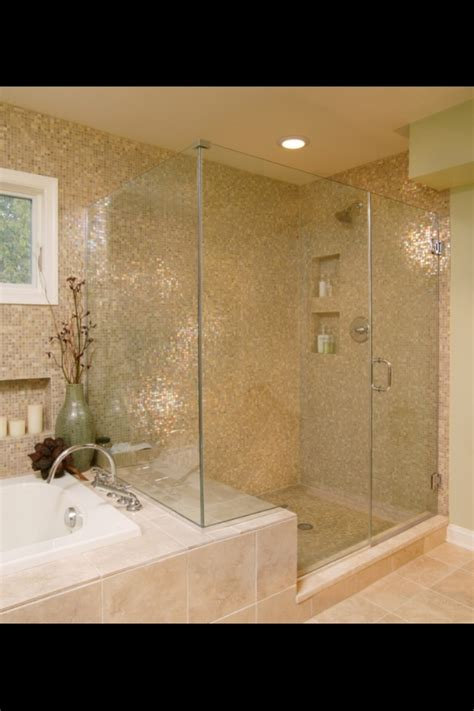 Tiling Side Of Bathtub by Side By Side Shower And Tub Bath Ideas