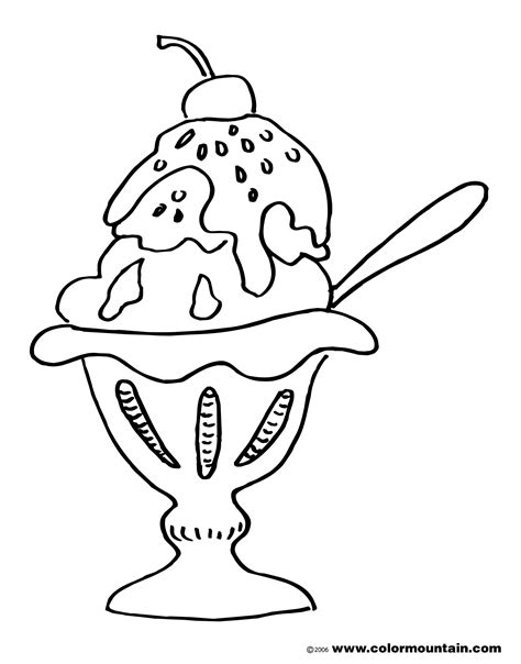 coloring page ice cream sundae free sundae color page create a printout or activity