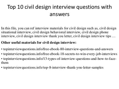 design engineer job interview questions top 10 civil design interview questions with answers