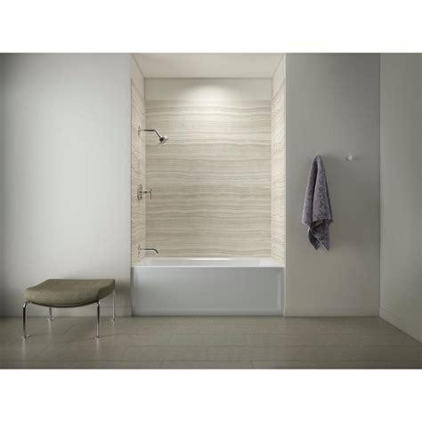 bathtub shower walls kohler choreograph 60in x 32 in x 72 in 5 piece bath
