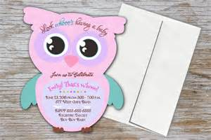 owl baby shower invitation owls baby shower invitations pink