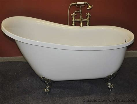 Classic Bathtub by 55 Quot Acrylic Slipper Clawfoot Tub Classic Clawfoot Tub