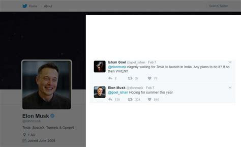elon musk india tesla coming to india tesla ceo hints the launch of brand
