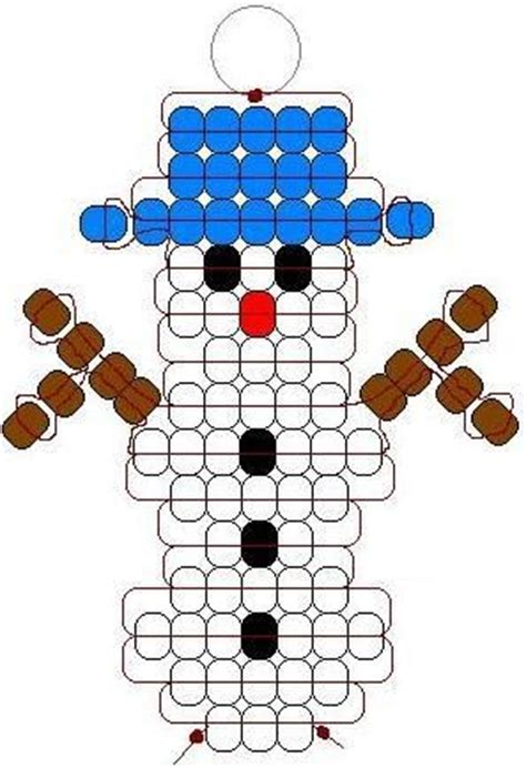 Snowman Pony Bead Pattern Decor