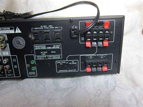 kenwood kr vr stereo receiver