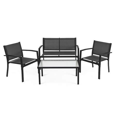 outdoor sofa tables ikayaa 4pcs patio garden furniture set porch sofa chairs table alley cat themes