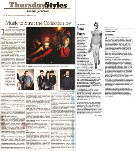 Style In The Ny Times by Press Javierperalmusic