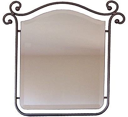 Wrought Iron Bathroom Mirror Suspended Beveled Wrought Iron Mirror Mediterranean Wall Mirrors By Crafts Imports